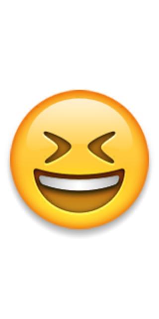 Wishbone smiley emoji or excited emoji created by childofgod1225
